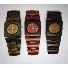 Reloj de pulsera de alta calidad Hlw072 OEM de madera y reloj de madera Bamboo Watch