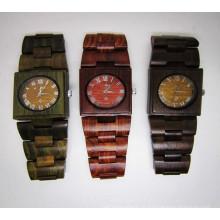 Hlw072 OEM Montre en bois de montre en bambou de montre des hommes et des femmes de haute qualité