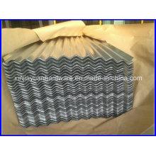Baixo preço Impermeável Zinc revestido Folha de telha de aço ondulado