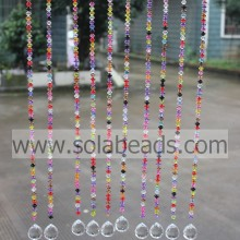 High Efficiency Factory for acrylic crystal bead curtain Autumn 9*11MM  Wire Acrylic Bead Garland Trim supply to Afghanistan Supplier