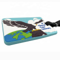 Gifts Maker Custom Embossed Rubber Soft PVC Luggage Tags