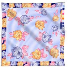 100% шелк шифон ткани ручной печати шелковый шарф