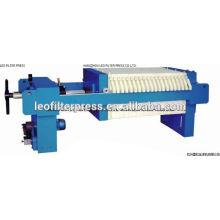 Prensa de filtro Leo Filtro de filtro pequeño Tamaño 400 Prensa de filtro manual