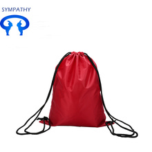Custom drawstring double shoulder bag shoulder