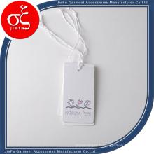 Étiquette de papier volante d'impression de mode et concise