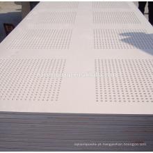 Placa de gipsita impermeável / placa de gesso perfurada acústica / placa de gipsita impermeável do Drywall