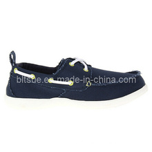 Casual Shoes Bule Leather Boat Shoes