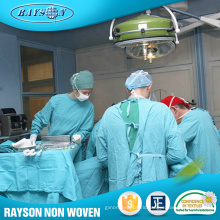 China Supplier Non Woven Surgical Clothing Hospital Gown Fabric
