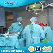 Tela cirúrgica não tecida do vestido do hospital da roupa do fornecedor de China