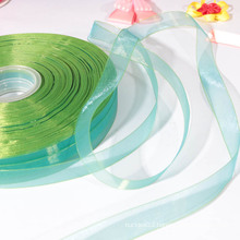 Eco-friendly teal ribbon/organza ribbon