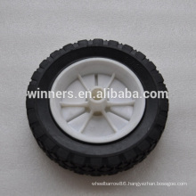 "6"" x 1.5"" small solid rubber wheel for recycle bin"