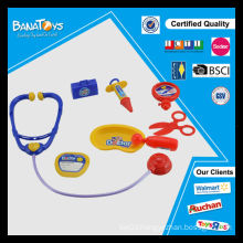 Baby educational plastic doctor toy with stethoscope medical set