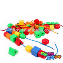 Intelligence toy threading Bead toys
