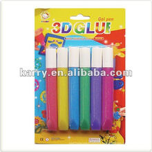 3D GLITTER GLUE GEL PEN DIY 10ML PER TUBE 6 COLORS