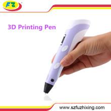 Stylo de dessin d'imprimante 3D de Doodler d'approvisionnement d'usine avec l'affichage d'affichage à cristaux liquides