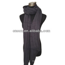 PK17ST309 fashion 100%acrylic jacquard knitted scarf fashion scarf
