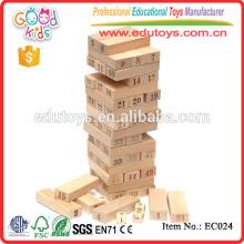 54 Pieces Wooden Jenga Natural Building Block Toys