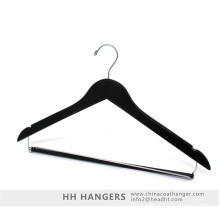 Wholesale Locked Trousers Bar Wooden Tops Set Hangers