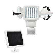 High quality LED solar motion sensor light 150led triple head, 1000 Lumens