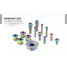 Pièces de vélo en gros Boulons en titane pour boulons Shimano zee / Titanium Ti pour groupe Shimano Saint SL-M820