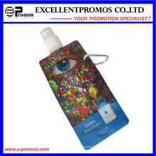 Foldable Plastic Water Bottle with Stainless Steel Ring (EP-B7154)