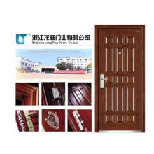 Porte blindée en bois d'acier de style de vente chaude de la Turquie