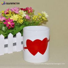 11oz Sublimation color changing mug with red heart