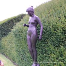 jardin décor à la maison métal artisanat vie taille lady nu statues de jardin