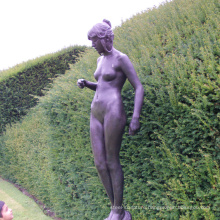 garden home decor metal craft life size lady nude garden statues