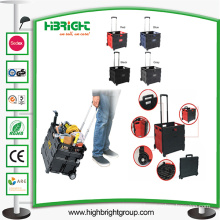Foldable Pack and Roll Shopping Cart Trolley