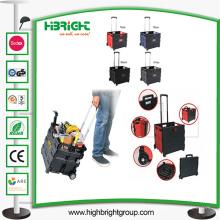 Pack dobrável e rolo carrinho carrinho de compras