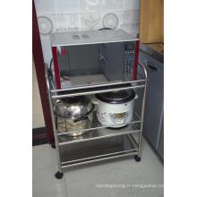 Support de stockage de cuisine d'étagère de four à micro-ondes
