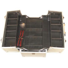 China Hard Case Tool Box Tool Case with 4 Plastic Trays Inside