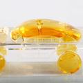 frasco de vidro do retângulo frasco de perfume 30ml claro cristalino com o tampão de parafuso dourado