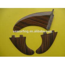 high quality bamboo veneer fiberglass fins