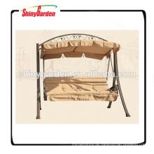 Durable Patio Gartenschaukel Chair Bett Deluxe Stahlschaukel