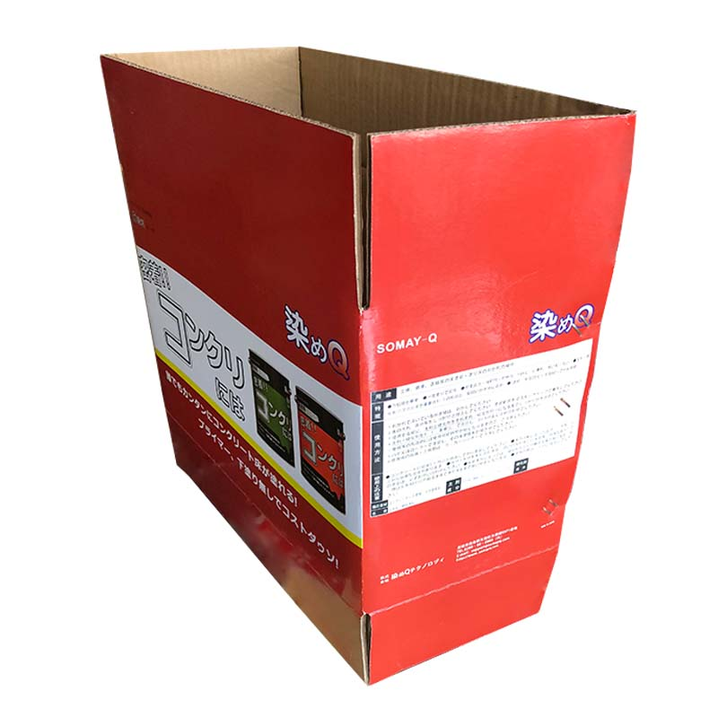 The paint-reinforced color carton