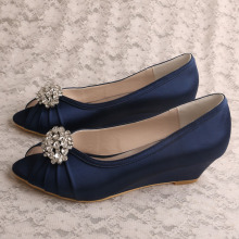 Wedopus Navy Heel Shoes Court Maat 6