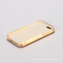 Cas de téléphone portable pour iPhone Flash Light LED Selfie cas