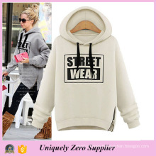 Winter Women Loose Casual Pullover Hooded White Hoodie