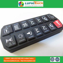 Customized for Colorful Silicone Rubber Keypads Nautique Boats Laser Etching Backlight SIlicone Keyboard supply to Portugal Suppliers