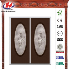Decorative Glass Double Prehung Front Door