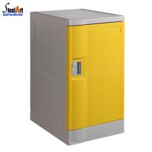 Vente chaude jaune porte piscine utilisé abs en plastique casier