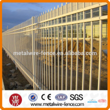 high quality zinc steel pipe metal fencing