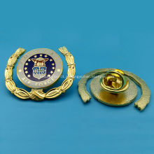 Pin de lapela de metal de chapeamento de cobre personalizado