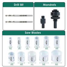 Bimetall-Lochsägen-Kit 11 PCS für Metall und Holz mit Aufbewahrungskoffer