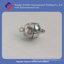 Fermoir magnétique pour bracelet et bracelet / fermoir en métal Bracelet