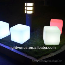 cambio de acrílico de color led cubo