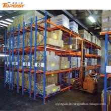 sistema de armazenamento para armazéns rack de palete duplo profundo