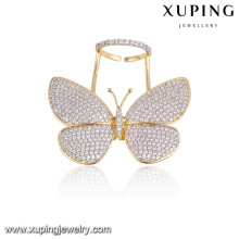 Moda elegante multicolor CZ mariposa anillo de dedo de la joyería para mujeres-13783